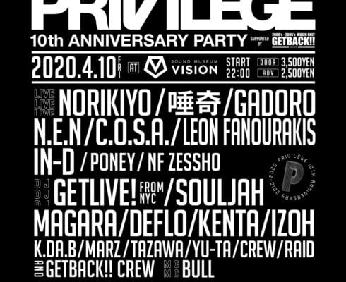 PRIVILEGE 10TH ANNIVERSARY PARTY
